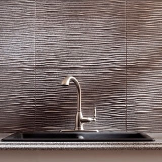 Fasade Waves Galvanized Steel 18-square Foot Backsplash Kit