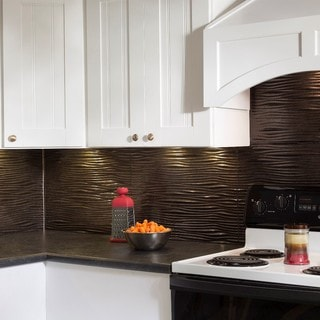 Fasade Waves Smoked Pewter 18-square Foot Backsplash Kit