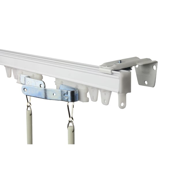 Heavy Duty White Wall or Ceiling Curtain Track / Room Divider