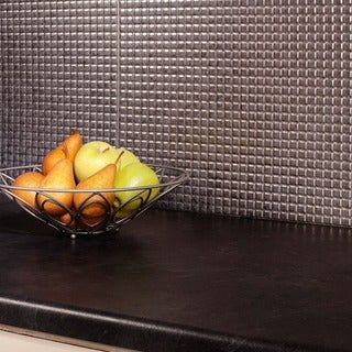 Fasade Square Galvanized Steel 18-square Foot Backsplash Kit