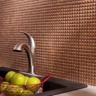 Fasade Square Cracked Copper 18-square Foot Backsplash Kit