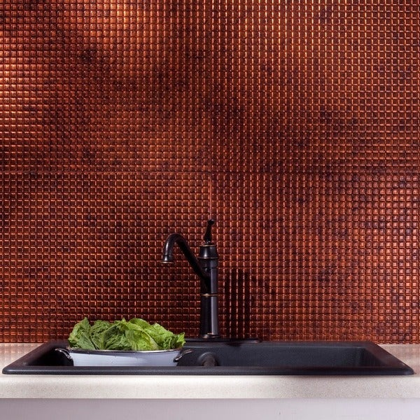 Fasade Square Moonstone Copper 18-square Foot Backsplash Kit 15739387