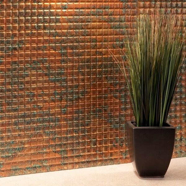 Fasade Square Copper Fantasy 18-square Foot Backsplash Kit 15739392