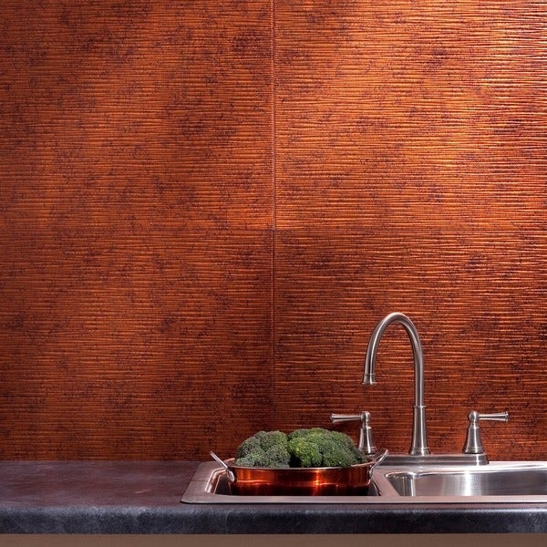 Fasade Ripple Moonstone Copper 18-square Foot Backsplash Kit