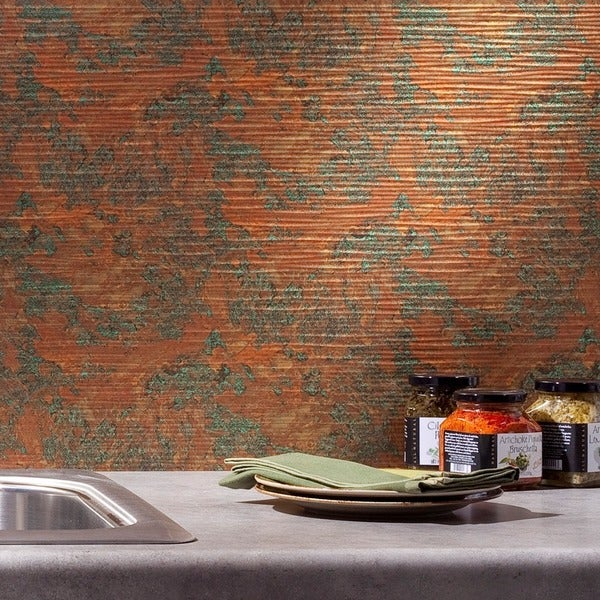 Fasade Ripple Copper Fantasy 18-square Foot Backsplash Kit 15739432