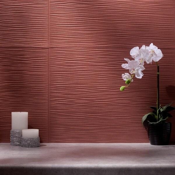 Fasade Ripple Argent Copper 18-square Foot Backsplash Kit 15739435