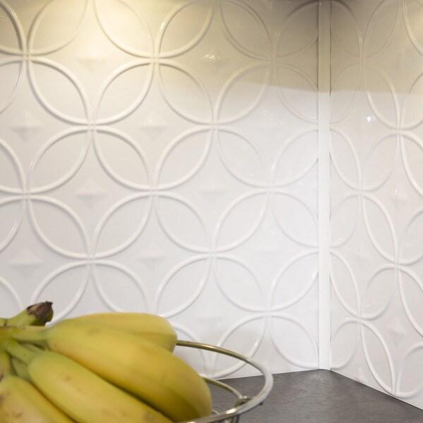 Fasade Rings Gloss White 18-square Foot Backsplash Kit 15739517