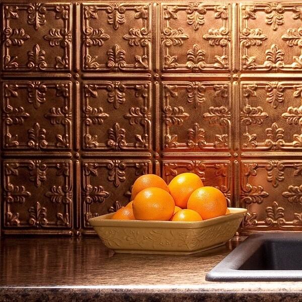 Fasade Traditional Style #10 Antique Bronze 18-square Foot Backsplash Kit 15739520