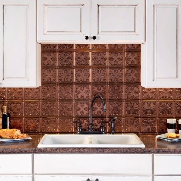 Fasade Traditional Style #10 Oil Rubbed Bronze 18-square Foot Backsplash Kit 15739534