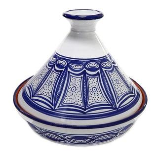 Le Souk Ceramnique Qamara Design Cookable Tagine-30 Cooking Pot (Tunisia)