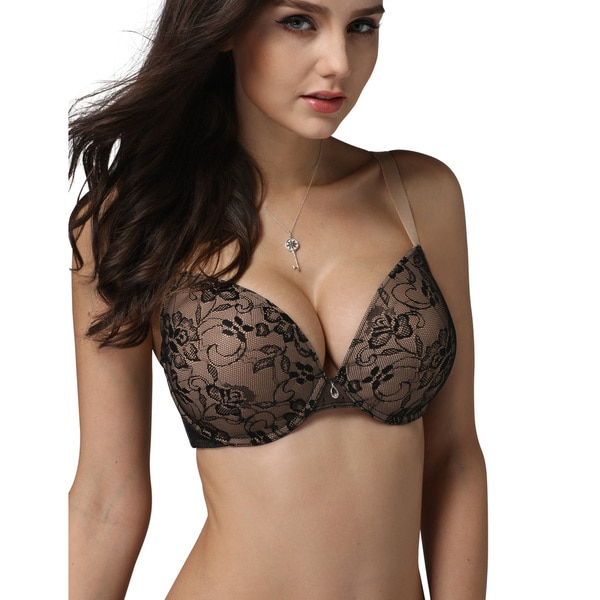 Rose Lady Womens Plus Size Underwired Molded Adjustable Bra