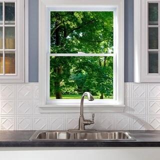 Fasade Traditional 4 Matte White 18-square Foot Backsplash Kit