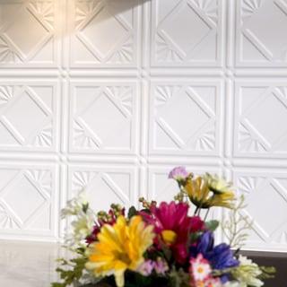 Fasade Traditional 4 Gloss White 18-square Foot Backsplash Kit