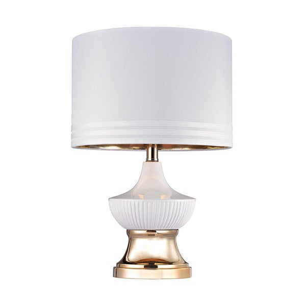 Dimond White Ribbed Genie Lamp