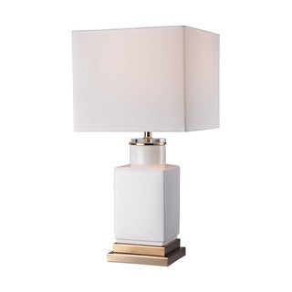 Dimond Small White Cube Lamp