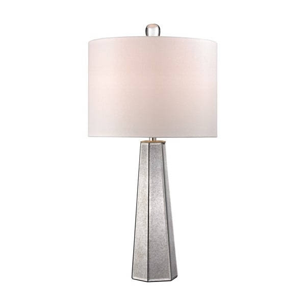 Dimond Hexagonal Mercury Glass Lamp