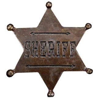 Sheriff Star Badge Brooch Costume Accessory