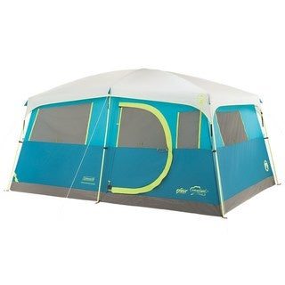 Coleman 8-Person Tenaya Lake Fast Pitch Cabin Tent with Closet (Blue/Lime Green)