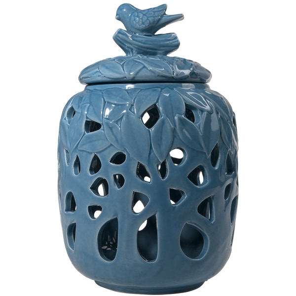 Blue Melinda Decorative Jar