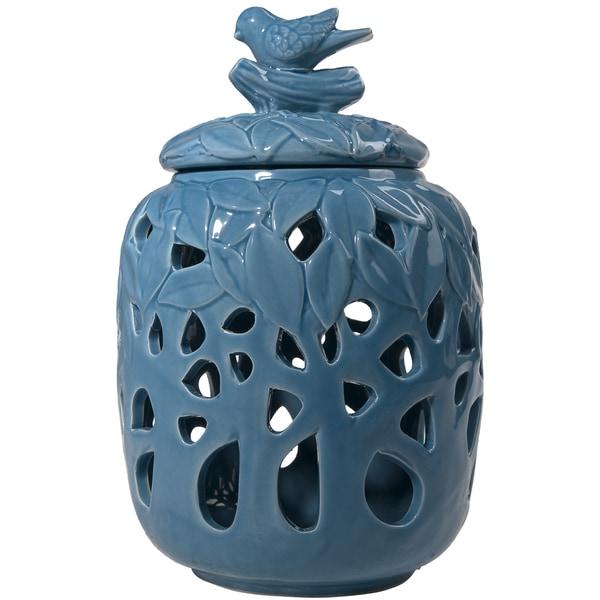 Blue Melinda Decorative Jar