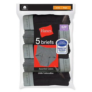 Hanes Boys' Dyed Briefs (Pack of 5)