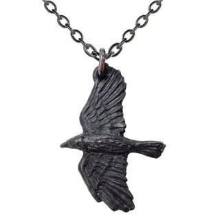 Blackened English Pewter Ravenine Necklace