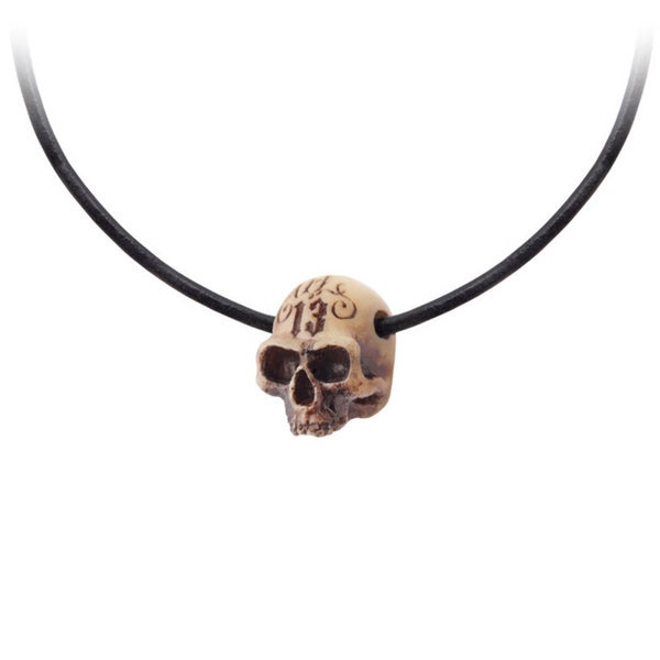 Resin Pendant with Genuine Leather Neck Thong Hole in The Head Necklace