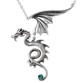 English Pewter with Crystals Bestia Regalis Necklace