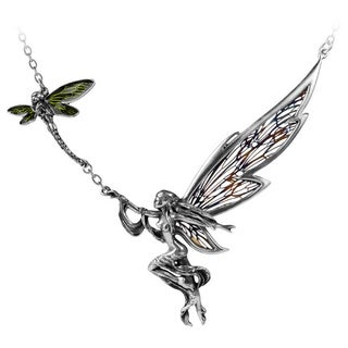 English Pewter, Enamel and Stainless Steel Fairy's Dream Necklace