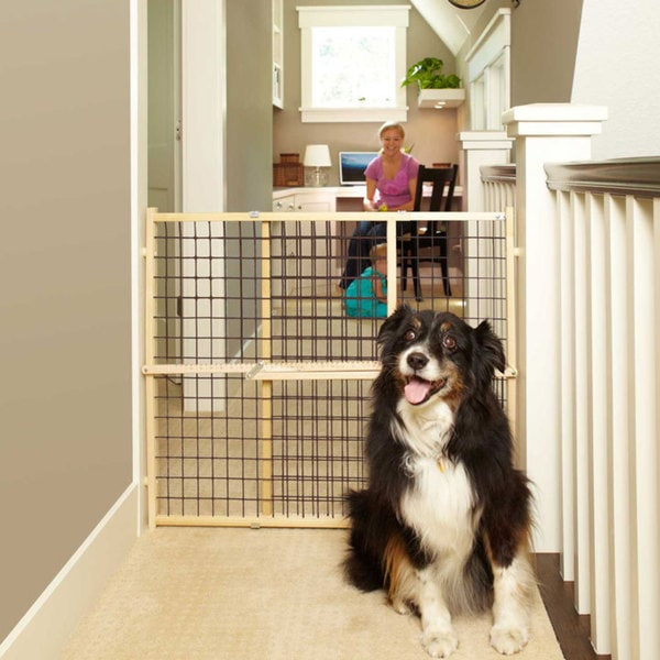 North States Extra-wide Wire Mesh Pet Gate