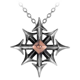 Two-tone English Pewter Chaostar Necklace