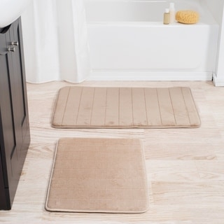 Windsor Home 2-piece Soft and Plush Memory Foam Bath Mat Set