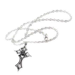English Pewter with Crystals St. Lorenz Kruez Necklace