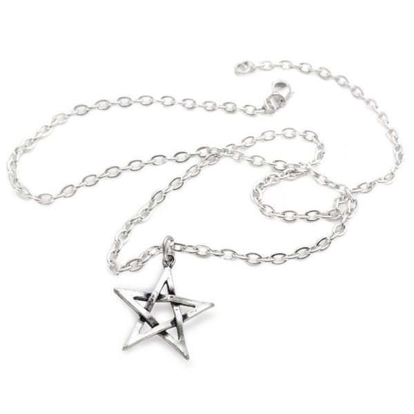 English Pewter Pentagram Necklace