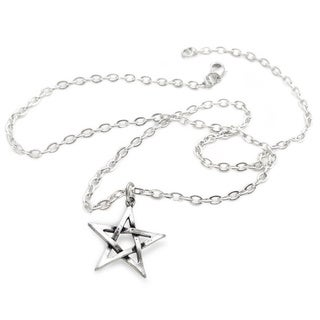English Pewter Pentagram Necklace