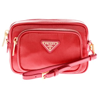 Prada Red Tessuto Small Pocket Crossbody Bag