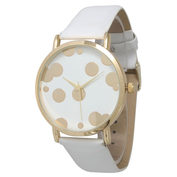 Olivia Pratt Women's Polka Dot Gold Bubble Watch