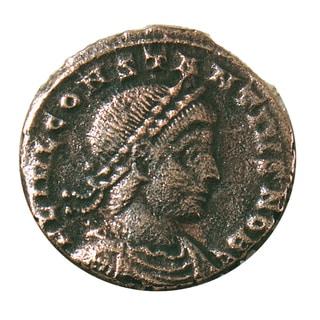 American Coin Treasures Ancient Bronze Constantine Coin