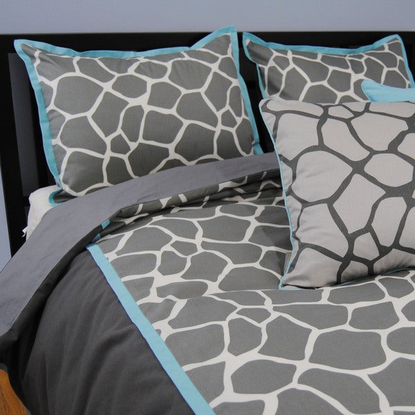 Giraffe Print Cotton 3-piece Duvet Set 15741264