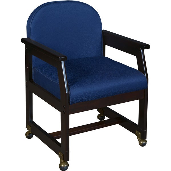 Belcino Wood Sled Base Arm Chair With Casters Overstock