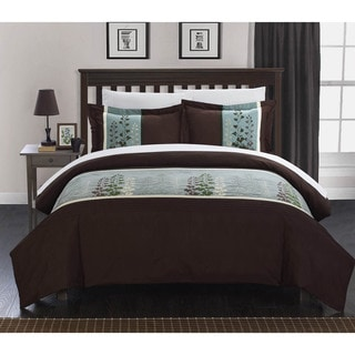 Chic Home Vidonia Embroidered Florals 3-piece Duvet Set