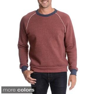 Alternative Earth Men's Crew Neck Sweatshirt with Contrast Seams