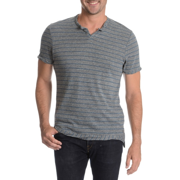 Alternative Men's Cut Neckline Twisted Hem T-Shirt