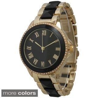 Olivia Pratt Women's Elegant Pyramid Stud Bracelet Watch