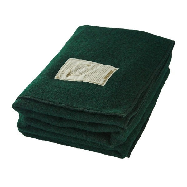 Woolrich Atlas Green Stadium Throw