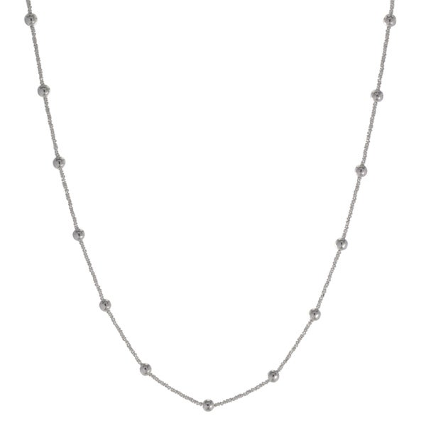 Sterling Silver Italian Criss-cross Necklace
