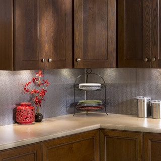 Fasade Rib Backsplash in Galvanized Steel 18-square-foot Kit