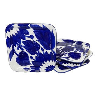 Le Souk Ceramique Jinane Design Square Plates (Set of 4)