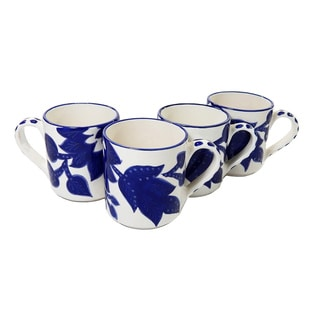 Le Souk Ceramique Jinane Design Coffee Mugs (Set of 4)