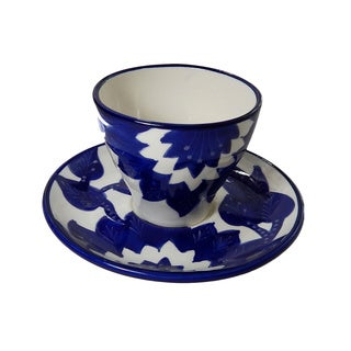 Le Souk Ceramique Jinane Design Tea/ Espresso Cup & Saucer (Set of 4)